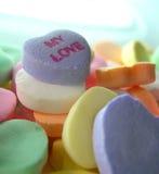 Mis corazones del caramelo del amor Foto de archivo