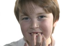 Mis dos dientes delanteros fotos de archivo