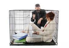 Mis en cage image libre de droits