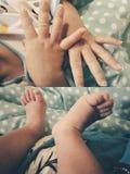 Mis fingeres y mis dedos del pie fotos de archivo