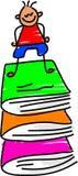 Mis libros ilustración del vector