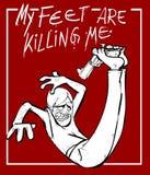 Mis pies son matanza yo stock de ilustración