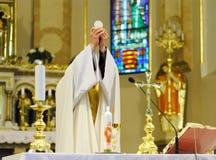 Misa del católico Foto de archivo