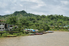 Misahualli river in the amazon jungle Stock Images