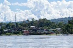 Misahualli widzieć od Napo rzeki obrazy stock