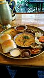 Misal pav - het Noorden Indische favoriete schotel royalty-vrije stock afbeelding