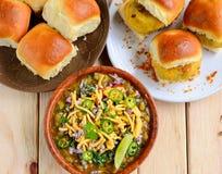 Misal Pav and Vada Pav-Marathi breakfast Royalty Free Stock Images