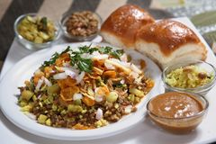 Misal Vada, Spiced potato dumpling royalty free stock photos