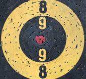 Misaligned target center Stock Photo