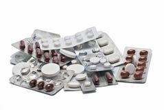 Misbruik van geneesmiddelen. Stock Foto
