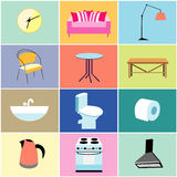 Misc furniture and household items Stock Photography