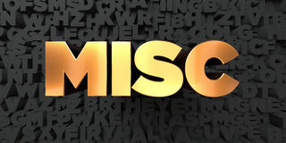 Misc - Gold text on black background - 3D rendered royalty free stock picture Royalty Free Stock Image