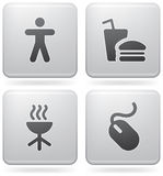 Misc Internet Icons Stock Photo