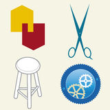 Misc logos 2 (vector). Four miscellaneous logos (vector): simple forms and concepts Royalty Free Stock Photos