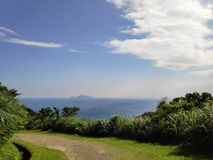 The Miscanthus on the Cao Ling Ancient Trail in the northeast corner of Taiwan stock photos