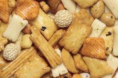 Miscela arrostita giapponese delle noci Fotografie Stock