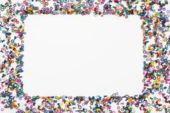 Miscela dei dadi di colore - e - bulloni Fotografie Stock Libere da Diritti