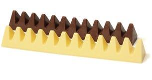 miscela dei dolci delle caramelle di cioccolato su bianco Immagini Stock