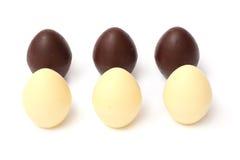 miscela dei dolci delle caramelle di cioccolato su bianco Fotografia Stock