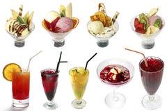 Miscela dei gelati e dei cocktail Fotografie Stock Libere da Diritti