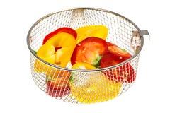 Miscela dei peperoni dolci colorati tagliati Immagine Stock Libera da Diritti
