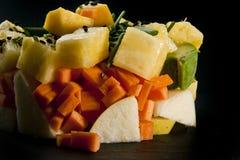 Miscela dei vegetals e dei frutti fotografia stock