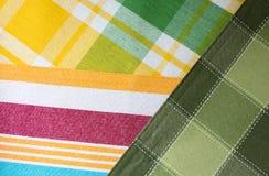 Miscela del tessuto a strisce e a quadretti multicoloured Fotografia Stock Libera da Diritti