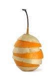 Miscela della fetta della frutta della pera e dell'arancio Immagine Stock