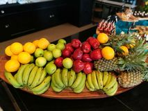 Miscela della frutta Fotografia Stock Libera da Diritti