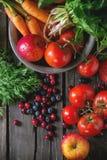 Miscela della frutta, delle verdure e delle bacche Immagini Stock Libere da Diritti