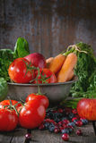 Miscela della frutta, delle verdure e delle bacche Fotografia Stock Libera da Diritti