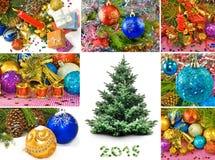 Miscela delle cartoline di Natale Fotografia Stock