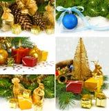 Miscela delle cartoline di Natale Fotografie Stock