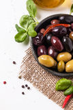 Miscela delle olive e del peperoncino Immagini Stock Libere da Diritti