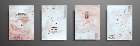 Miscela delle pitture acriliche Struttura di marmo liquida Arte fluida Applicabile per la copertura di progettazione, presentazio illustrazione vettoriale