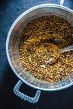 Miscela delle spezie indiane per il masala nel verticale del vaso del metallo Fotografia Stock Libera da Diritti