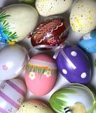 Miscela delle uova vive multicolori di Easer Immagini Stock Libere da Diritti