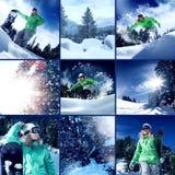 Miscela dello snowboard Fotografia Stock Libera da Diritti