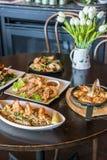 Miscela di alimento tailandese sulla tavola Fotografia Stock