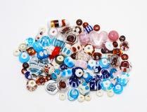 Miscela di colore delle perle del lampwork Fotografia Stock