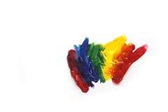 Miscela di colori della pittura acrilica Fotografie Stock Libere da Diritti