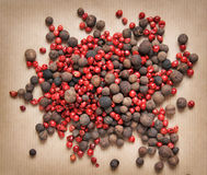 Miscela di pepe rosso e nero Immagini Stock