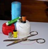 Miscela di roba di cucito Fotografia Stock