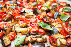Miscela di verdure al forno Fotografia Stock