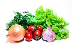 Miscela di verdure su un fondo bianco Fotografia Stock Libera da Diritti