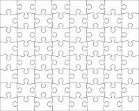 Miscela editabile del modello del puzzle Immagini Stock Libere da Diritti