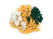 Miscela farmaceutica delle pillole e delle compresse della medicina Immagine Stock Libera da Diritti