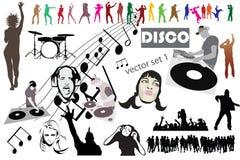 Miscela mega dell'insieme della discoteca immagini stock libere da diritti