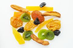 Miscela secca di frutti tropicali Fotografia Stock