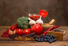 Prodotti degli antiossidanti Fotografia Stock Libera da Diritti